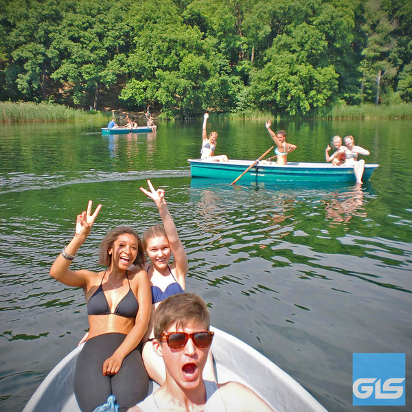 After class: rowing on one of Berlin's many lakes
